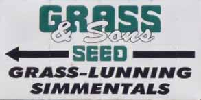 Grass & Sons Seed sign